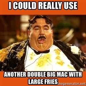 Fat Guy - I COULD REALLY USE  ANOTHER DOUBLE BIG MAC WITH LARGE FRIES
