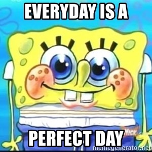 Epic Spongebob Face - EVERYDAY IS A PERFECT DAY