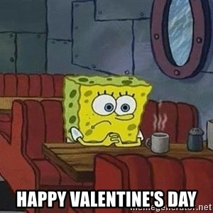 Coffee shop spongebob -  Happy Valentine's day