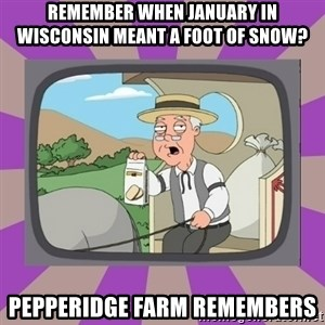 Pepperidge Farm Remembers FG - remember when january in wisconsin MEANT a foot of snow? Pepperidge farm remembers