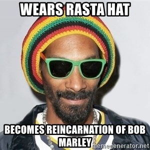 Snoop lion2 - WEARS RASTA HAT BECOMES REINCARNATION OF BOB MARLEY