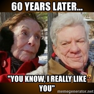 """Pornhub's Super Bowl Ad - 60 years later... """"you know, i really like you"""""""