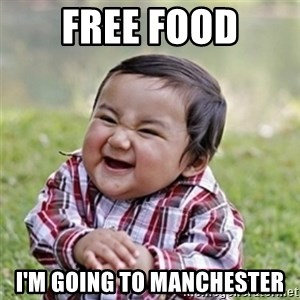 Evil kid - free food i'm going to manchester
