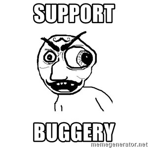 Cuddler - support buggery