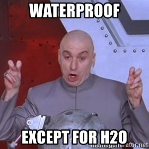Dr. Evil Air Quotes - waterproof EXCEPT FOR H2O