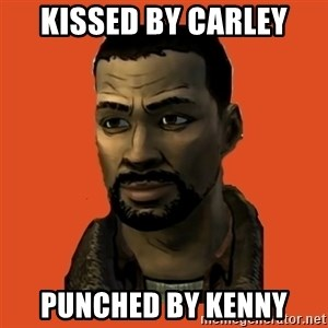 Lee Everett - kissed by carley punched by kenny