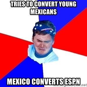 US Soccer Fan Problems - Tries to convert young mexicans mexico converts espn