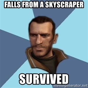 Niko - falls from a skyscraper survived