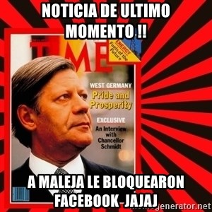 Helmut looking at top right image corner. - NOTICIA DE ULTIMO MOMENTO !! A MALEJA LE BLOQUEARON FACEBOOK  JAJAJ