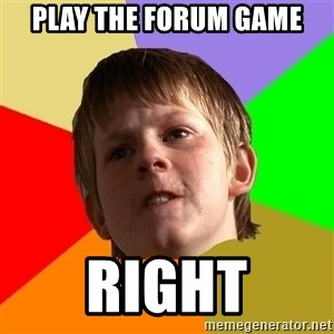 Angry School Boy - Play the forum game right