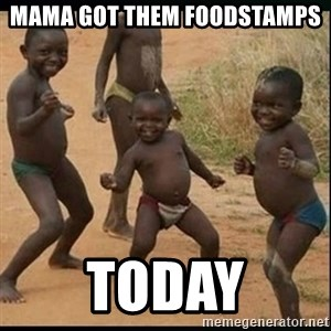 Dancing black kid - mama Got Them Foodstamps  Today