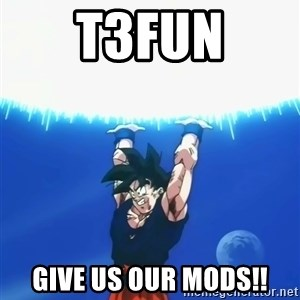 Goku Super Spirit Bomb - T3Fun give us our mods!!