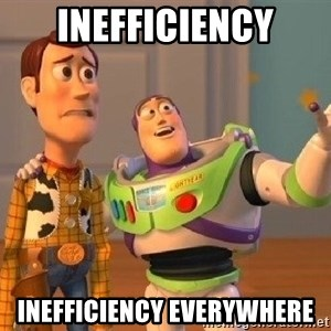 Consequences Toy Story - Inefficiency inefficiency Everywhere