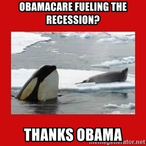 Thanks Obama! - Obamacare fueling the recession? THANKS OBAMA