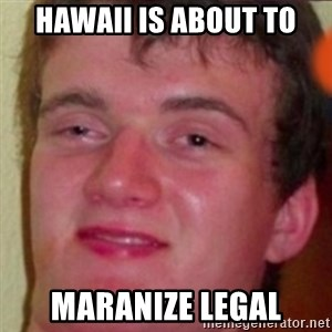 highguy - Hawaii is about to maranize legal