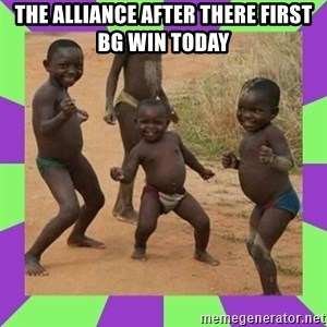 african kids dancing - the alliance after there first bg win today
