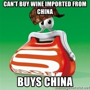 Scumbag Spar - can't buy wine imported from china Buys china