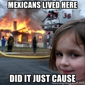 Disaster Girl - Mexicans lived here did it just cause