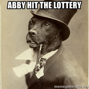 rich dog - Abby hit the Lottery