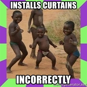 african kids dancing - INSTALLS CURTAINS INCORRECTLY