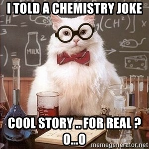 Chemistry Cat - I TOLD A CHEMISTRY JOKE  COOL story .. for real ? o...O