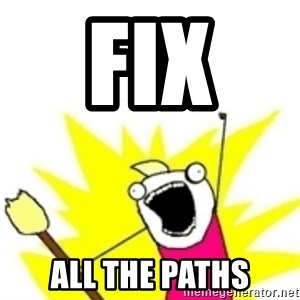 x all the y - Fix  all the paths