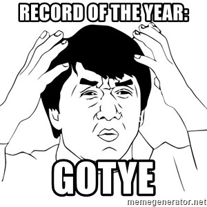 Jackie Chan Meme - Record of the year: Gotye