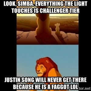 Lion King Shadowy Place - Look, simba. everything the light touches is challenger tier justin song will never get there because he is a faggot lol