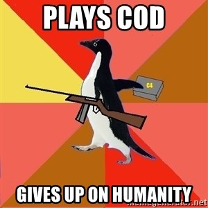 Socially Fed Up Penguin - plays cod gives up on humanity