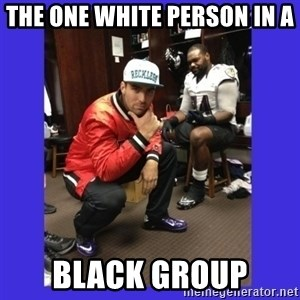 PAY FLACCO - THE ONE WHITE PERSON IN A BLACK GROUP