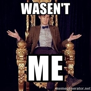Hipster Doctor Who - wasen't me