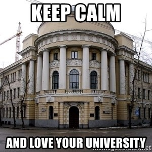 MPGU - keep calm and love your university