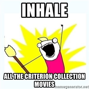 All the things - INHALE ALL THE CRITERION COLLECTION MOVIES
