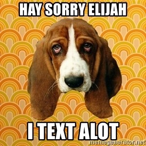 SAD DOG - hay sorry elijah i text alot