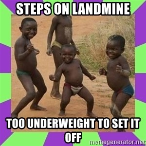 african kids dancing - STEPS ON LANDMINE TOO UNDERWEIGHT TO SET IT OFF