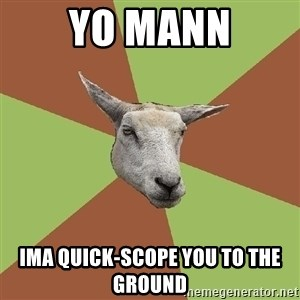The Gamer Sheep - YO MANN IMA QUICK-SCOPE YOU TO THE GROUND