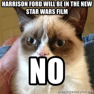 Grumpy Cat  - harrison ford will be in the new star wars film no