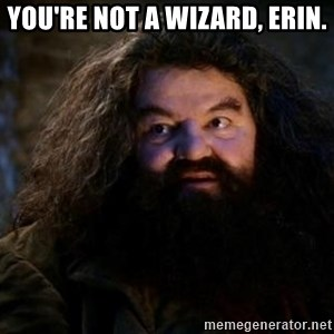 Yer A Wizard Harry Hagrid - you're not a wizard, erin.