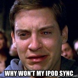 spiderman cry -  Why won't my ipod sync