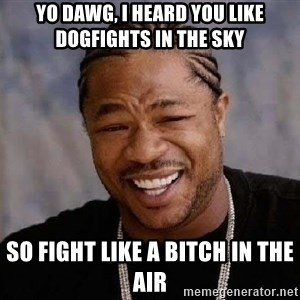 Yo Dawg - yo dawg, I heard you like dogfights in the sky so fight like a bitch in the air