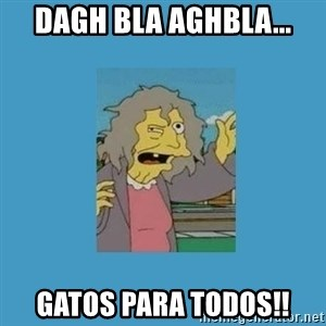 crazy cat lady simpsons - dagh bla AGHBLA... gatos para todos!!