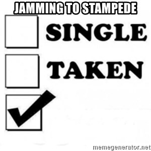 single taken checkbox - JAMMING TO STAMPEDE
