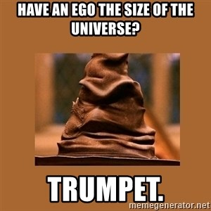 Music Sorting Hat - Have an ego the size of the universe? Trumpet.