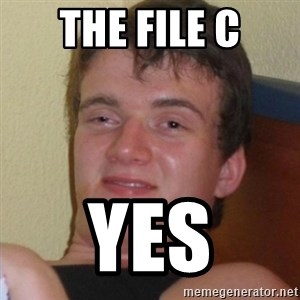 Really highguy - the file C yes