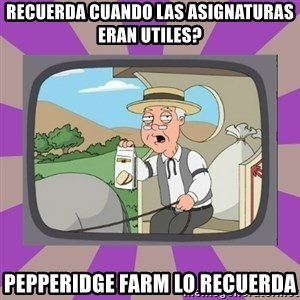Pepperidge Farm Remembers FG - recuerda cuando las asignaturas eran utiles? pepperidge farm lo recuerda