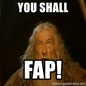 Gandalf You Shall Not Pass - YOU SHALL FAP!