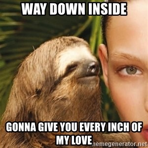 The Rape Sloth - Way down inside gonna give you every inch of my love