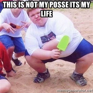 American Fat Kid - this is not my posse its my life