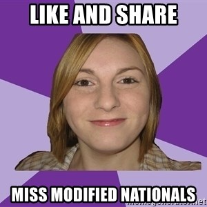 Generic Fugly Homely Girl - like and share miss modified nationals