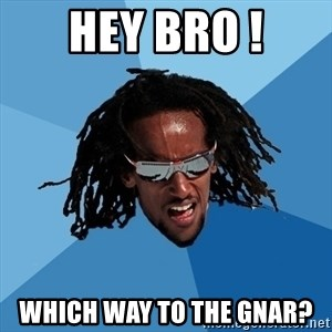 skier - Hey bro ! WHich way to the gnar?